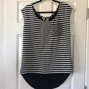 Black and white top